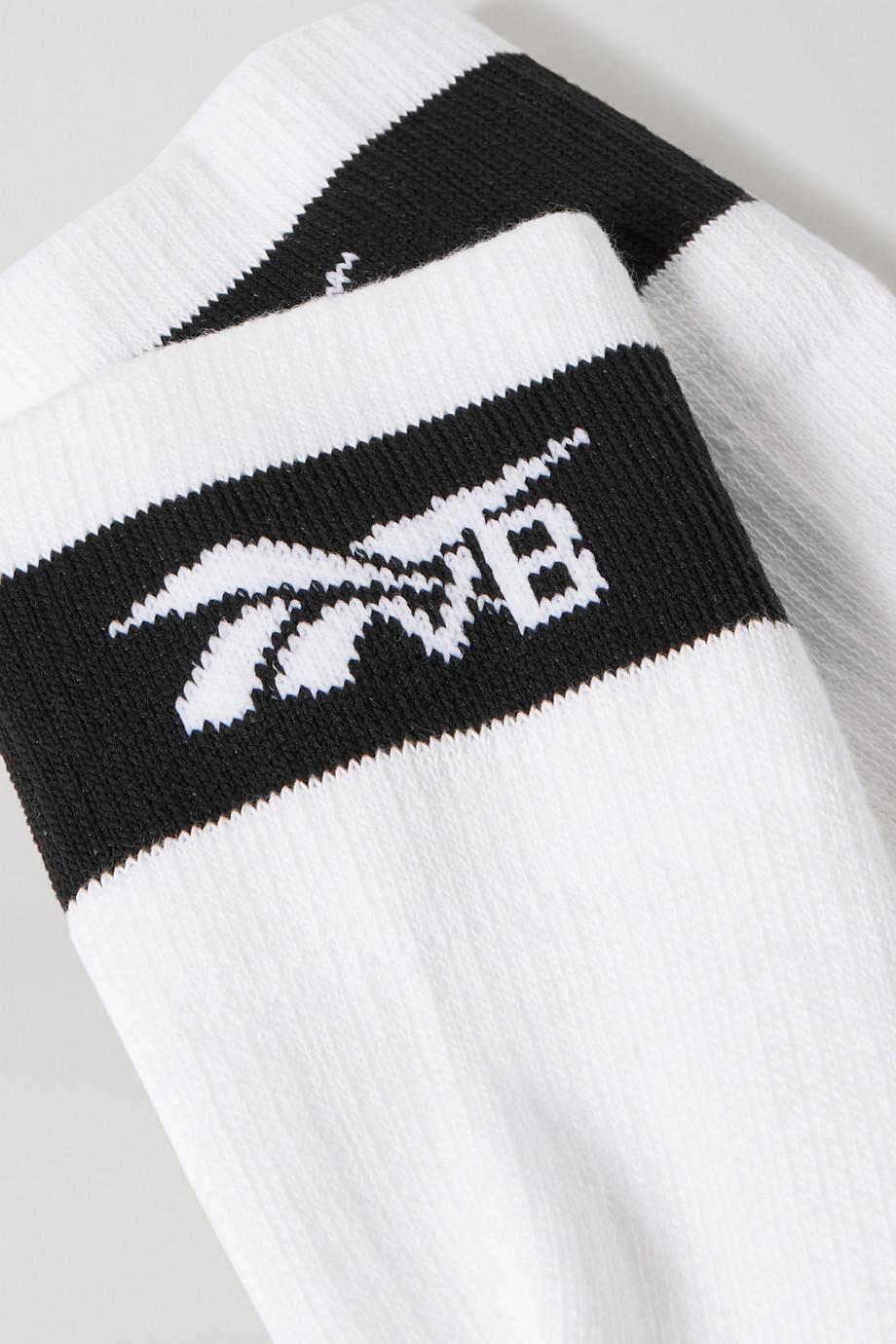 Reebok X Victoria Beckham Intarsia cotton-blend socks
