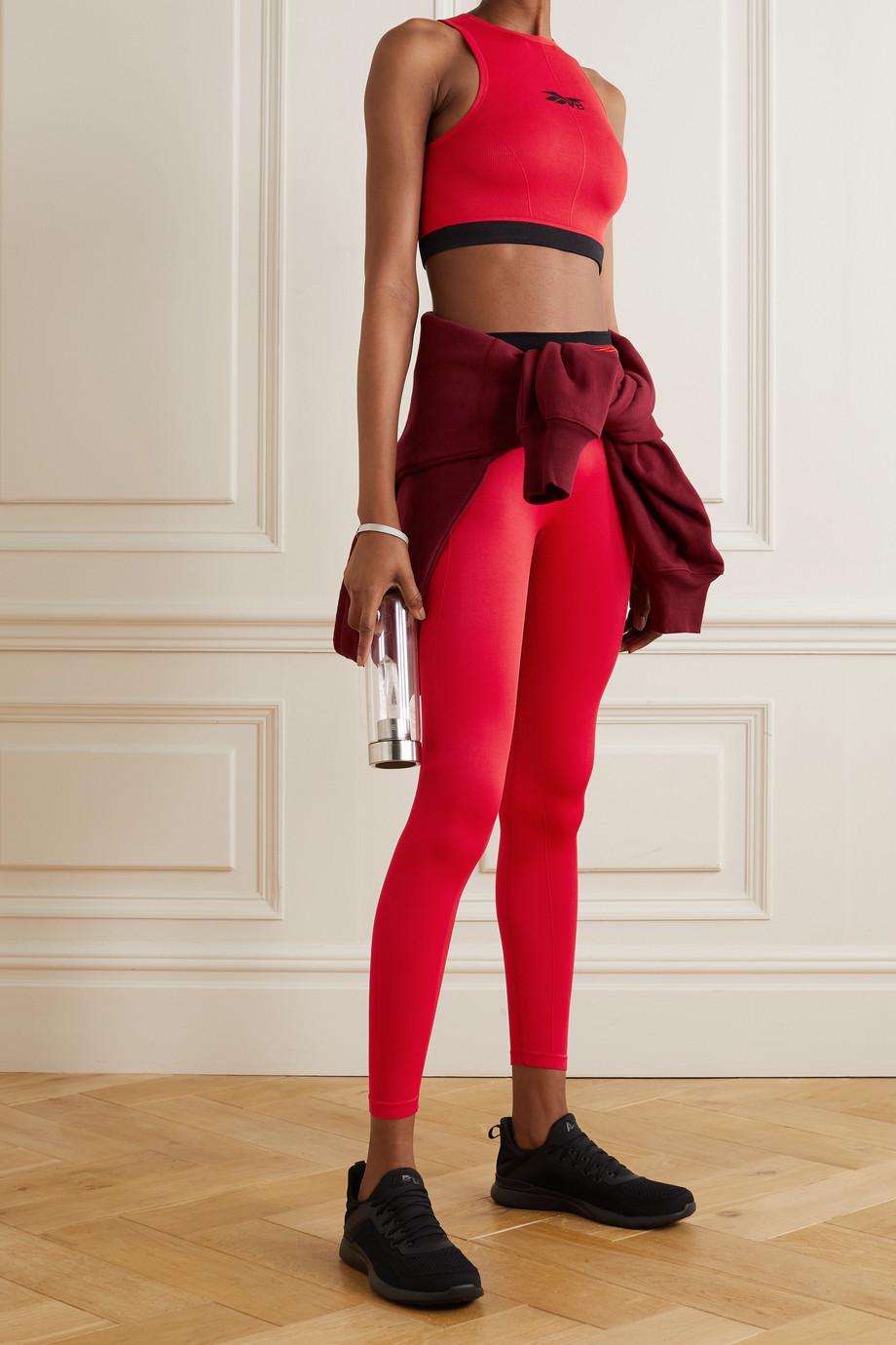 Reebok X Victoria Beckham Ribbed jacquard-knit sports bra