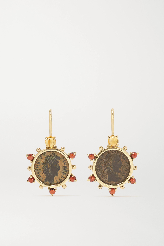 Dubini - Empress 18-karat gold, citrine and garnet earrings
