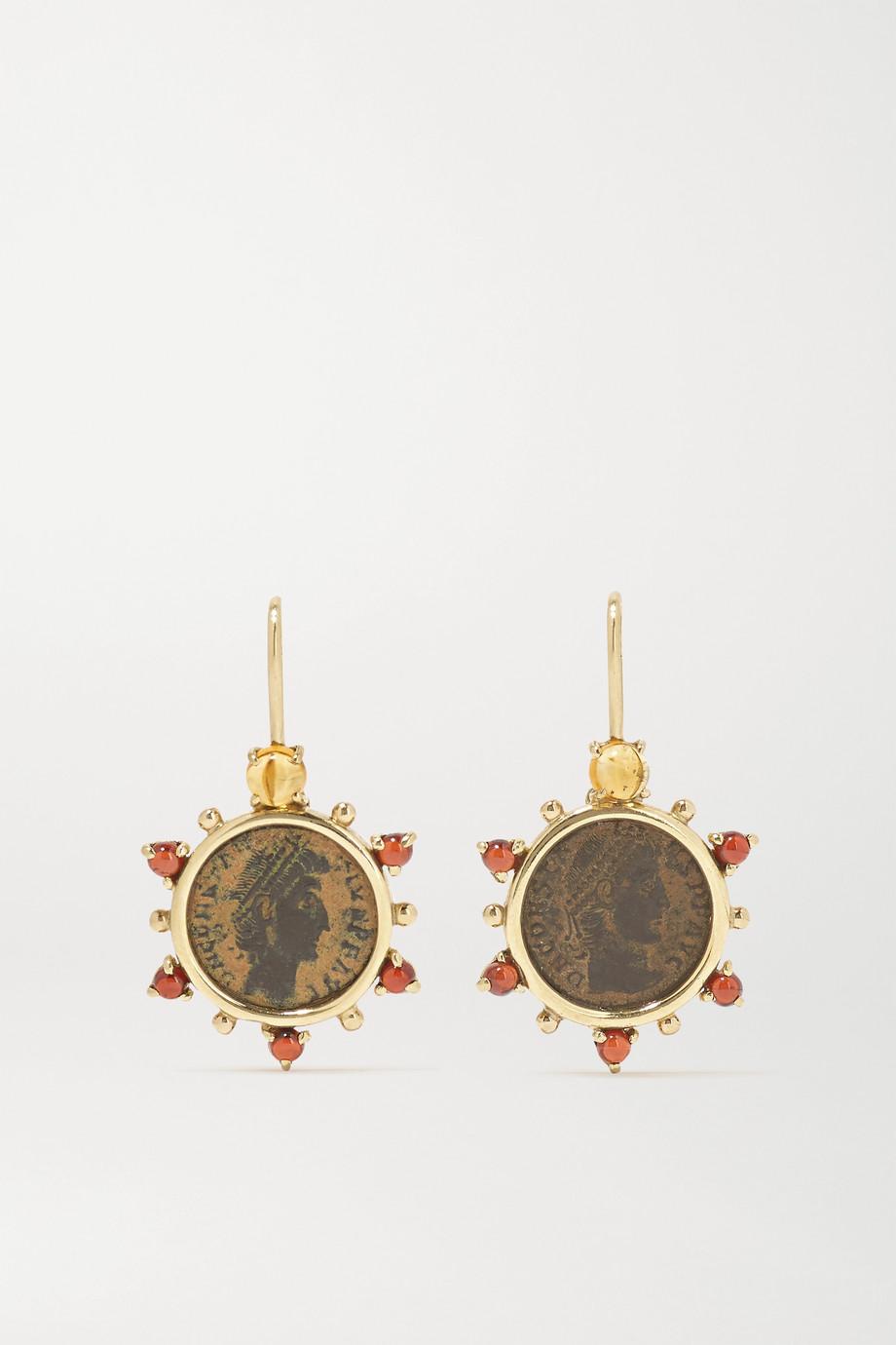 Dubini Empress 18-karat gold, citrine and garnet earrings
