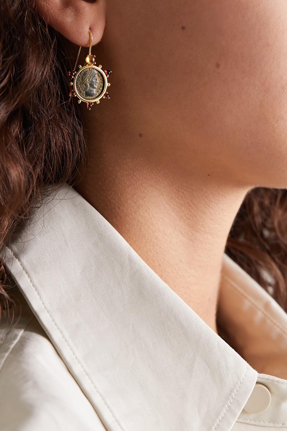 Dubini Empress Ohrringe aus 18 Karat Gold mit Citrinen und Granaten