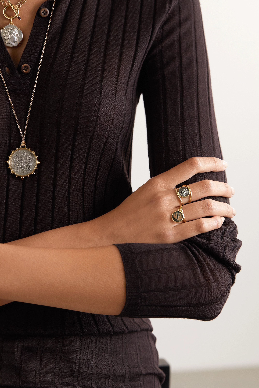 Dubini Emperor Flip 18K 黄金青铜戒指