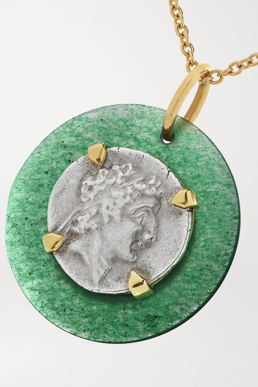 Dubini Collier en or 18 carats (750/1000), argent et aventurine Ariarathes VII