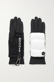 Bogner Layered padded shell and stretch-jersey ski gloves