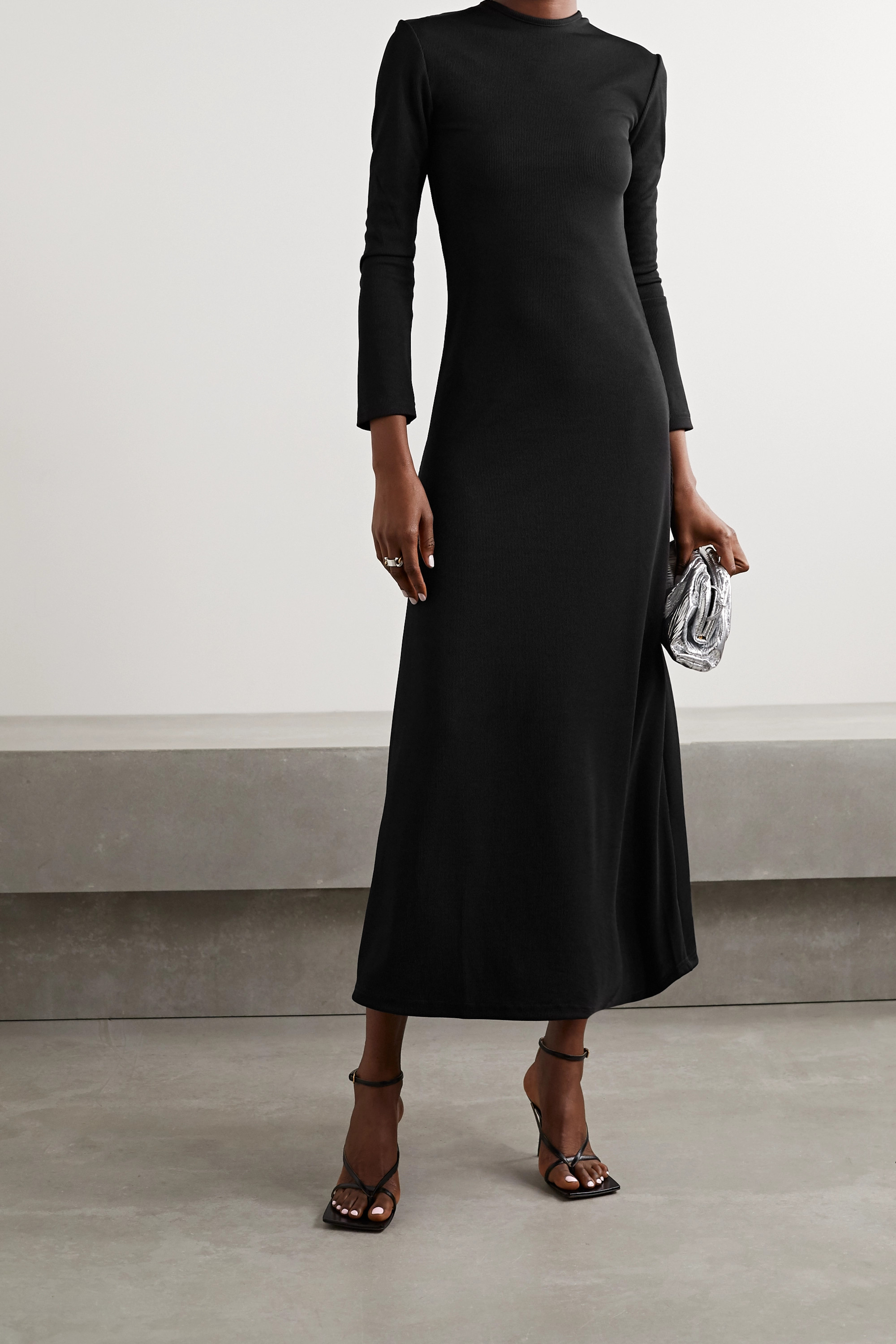 Christopher Esber Open-back ribbed-knit maxi dress