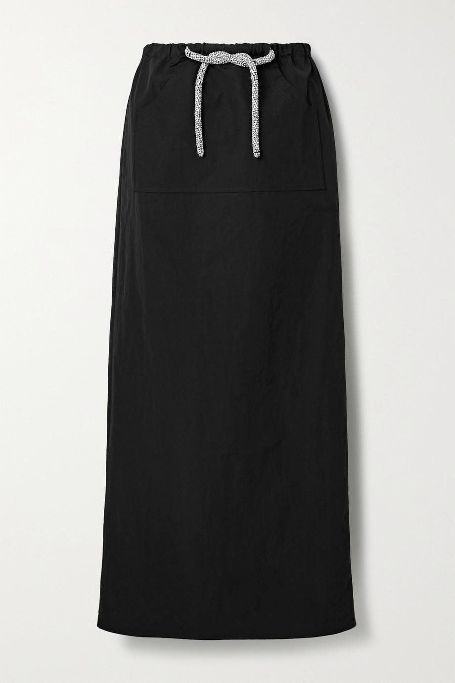 Christopher Esber Cargo crystal-embellished taffeta maxi skirt
