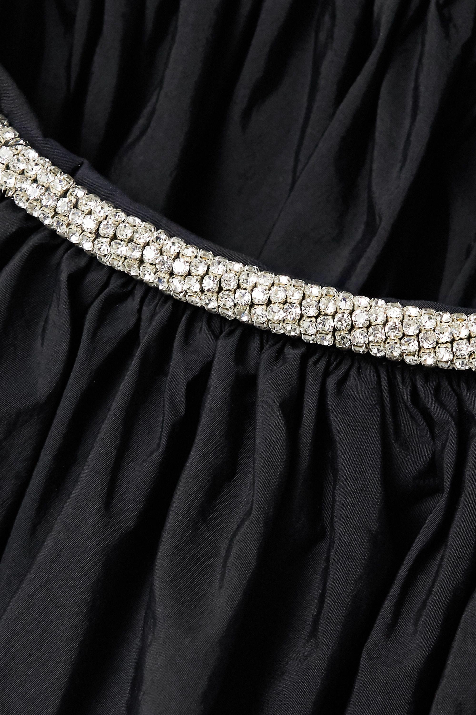 Christopher Esber One-shoulder crystal-embellished cutout taffeta gown
