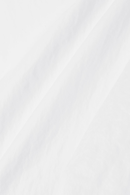 Christopher Esber Lace-up cropped poplin top