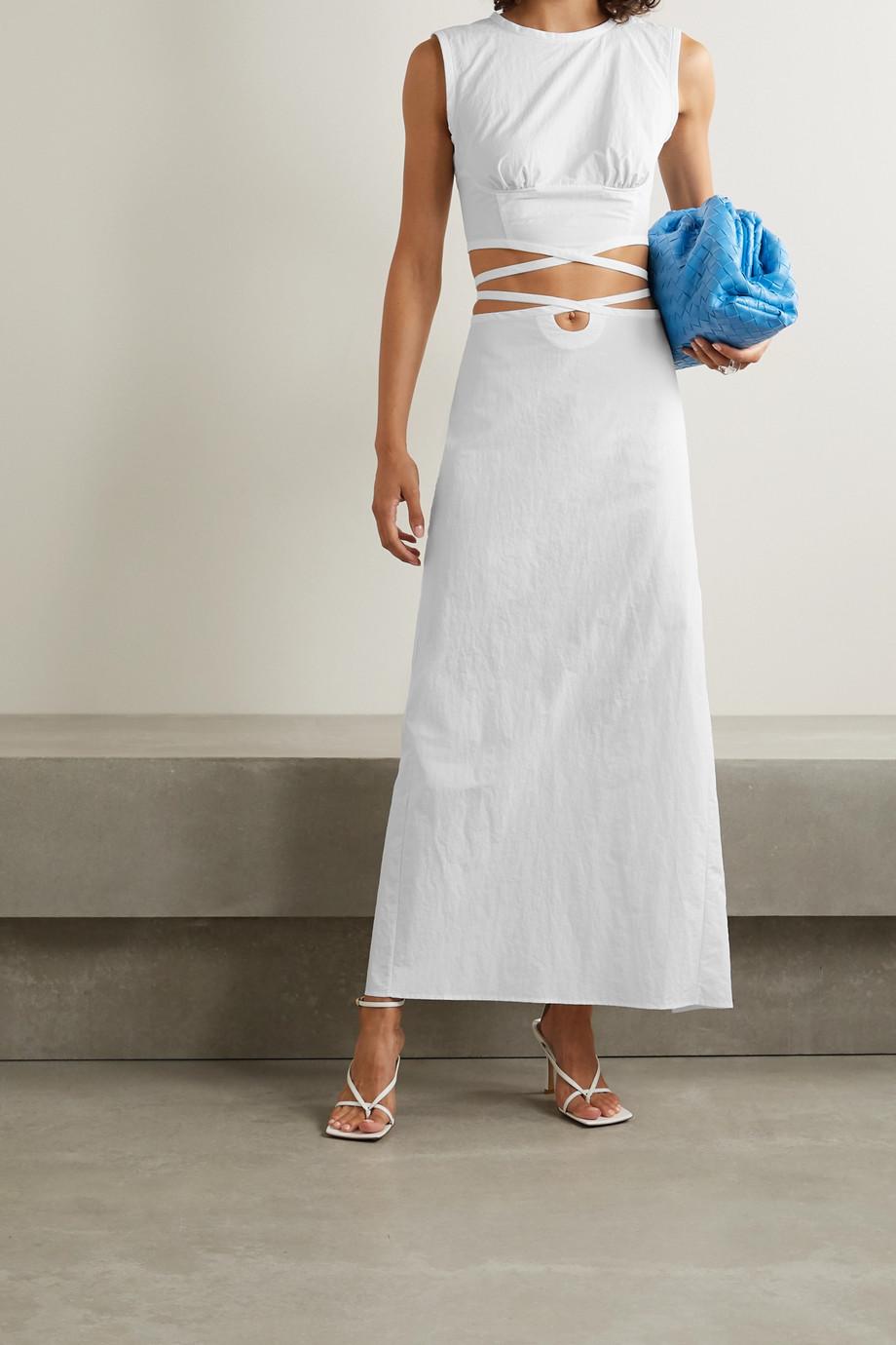 Christopher Esber Lace-up poplin maxi skirt