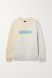 P.E NATION First Position printed organic cotton-blend jersey sweatshirt