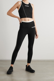 P.E NATION Match Play printed stretch sports bra