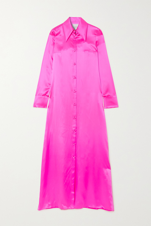 Halpern Neon silk-satin gown