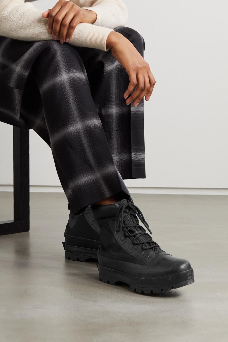 Converse + AMBUSH CTAS Duck leather-trimmed canvas ankle boots