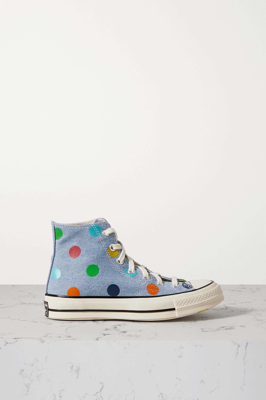 Converse + Golf Wang Chuck Taylor All Star 70 polka-dot denim high-top sneakers