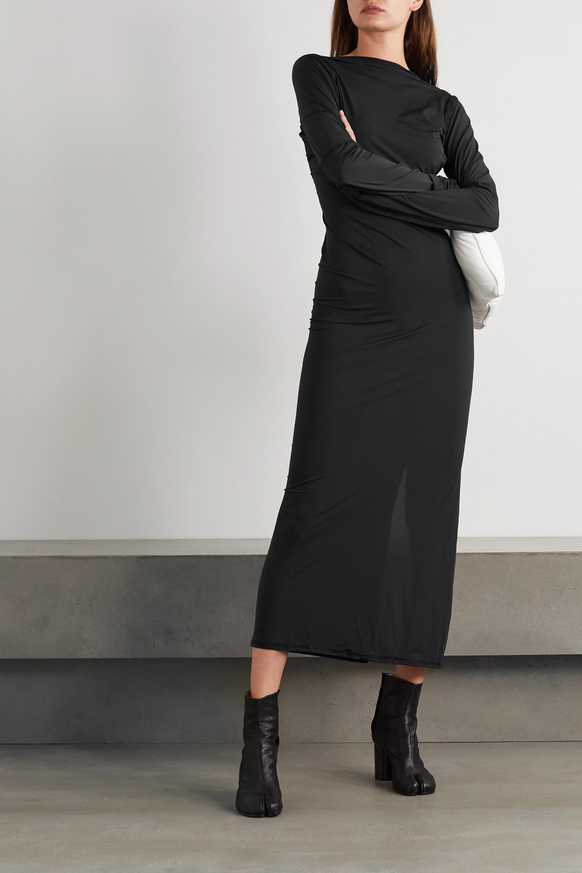 ioannes Open-back paneled stretch-jersey maxi dress