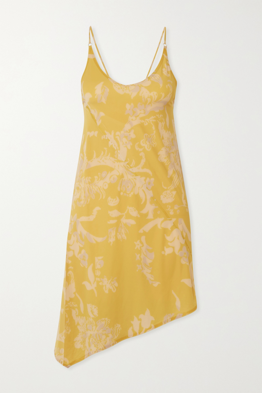 ioannes Open-back asymmetric floral-print stretch-jersey mini dress
