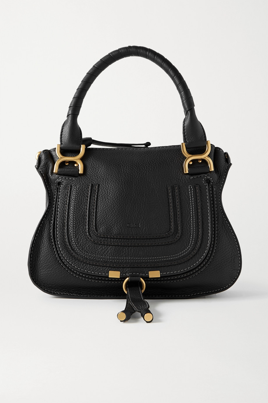 Chloé Marcie small textured-leather tote