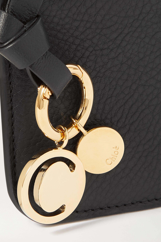 Black Alphabet Textured-leather Wallet | Chloé