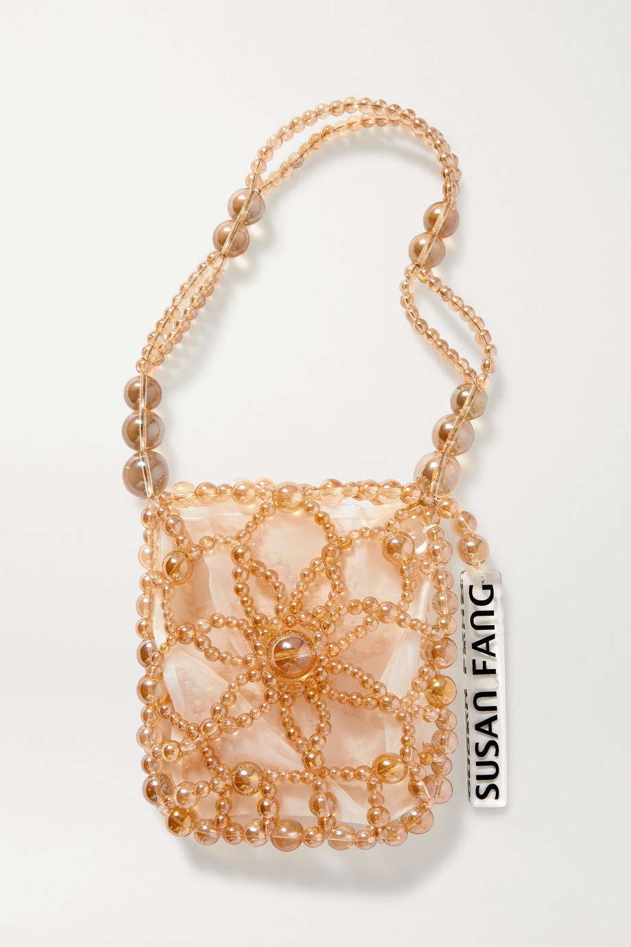 Susan Fang Bubble Flower beaded tote