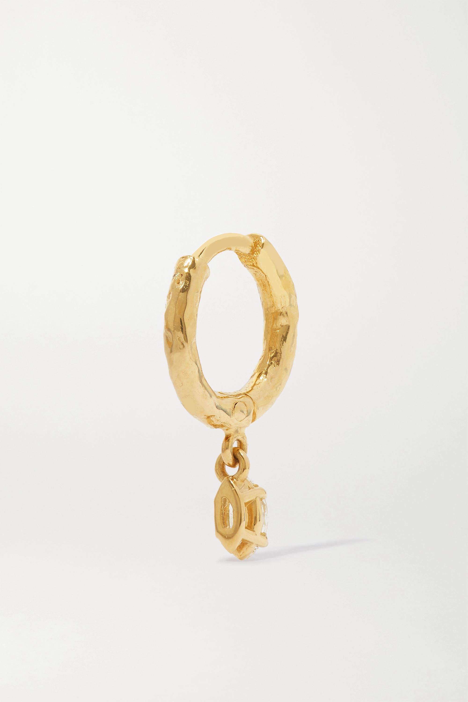 Octavia Elizabeth + NET SUSTAIN Micro Gabby 18-karat gold diamond hoop earrings