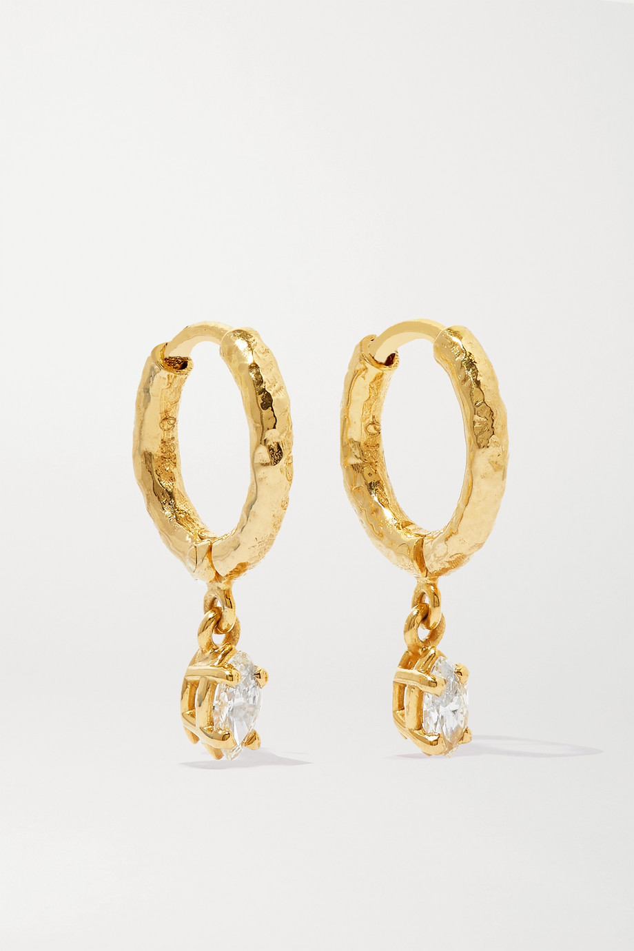 Octavia Elizabeth + NET SUSTAIN Micro Gabby 18-karat gold diamond hoop earrings
