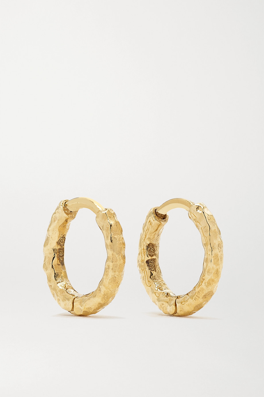 Octavia Elizabeth + NET SUSTAIN Micro Gabby 18-karat gold hoop earrings