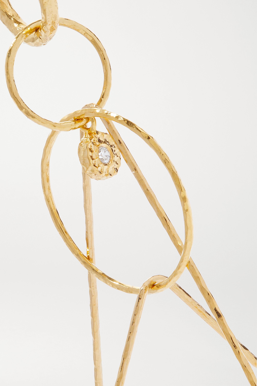 Octavia Elizabeth + NET SUSTAIN Whimsy 18-karat recycled gold diamond earrings