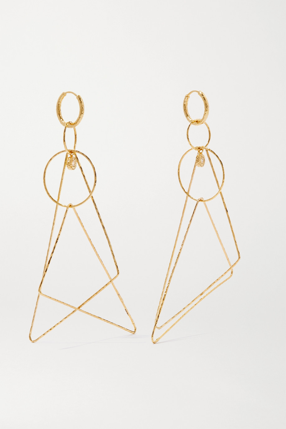 Octavia Elizabeth Whimsy 18-karat gold diamond earrings