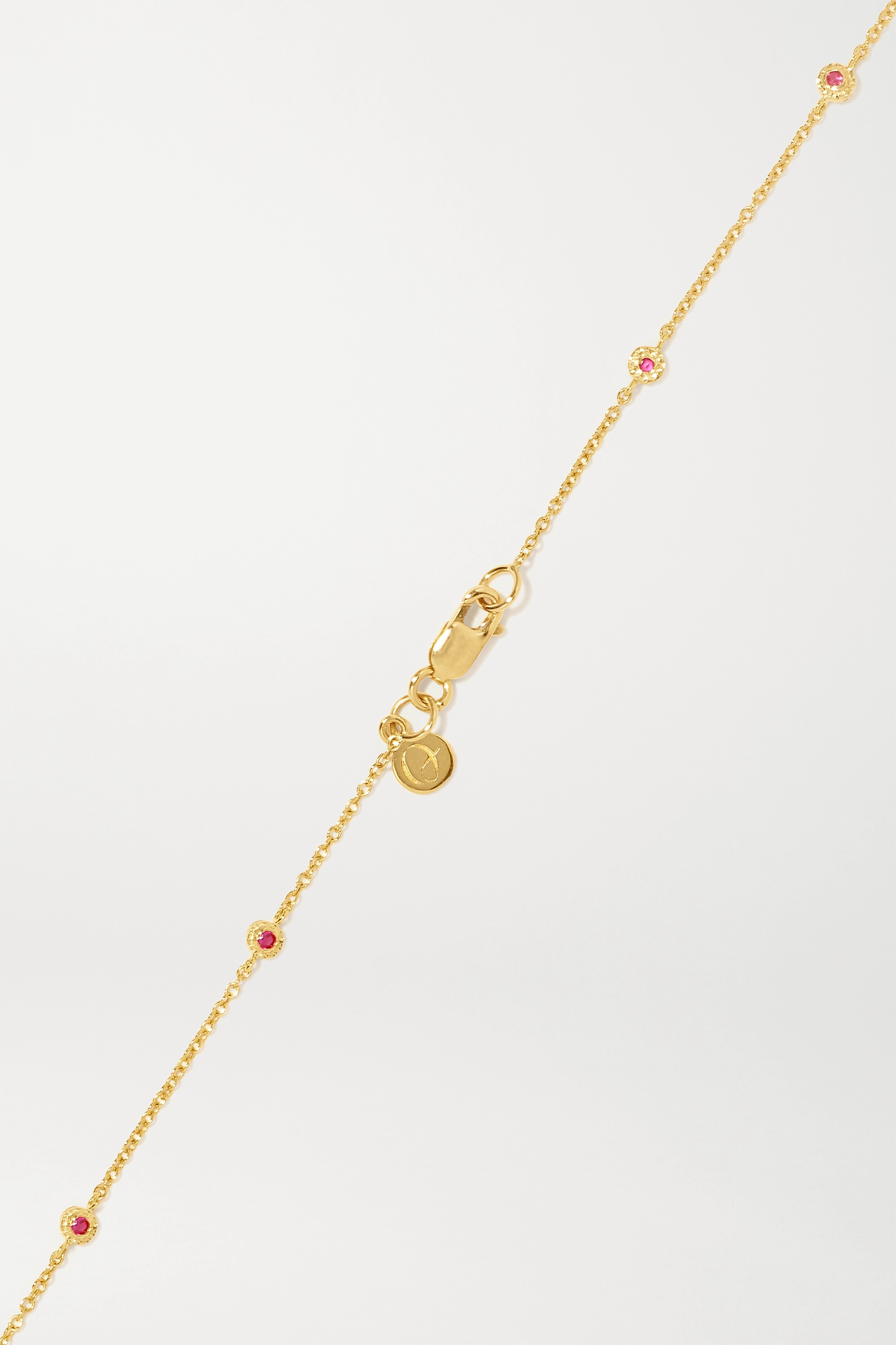 Octavia Elizabeth + NET SUSTAIN Nesting Gem 18-karat gold ruby necklace