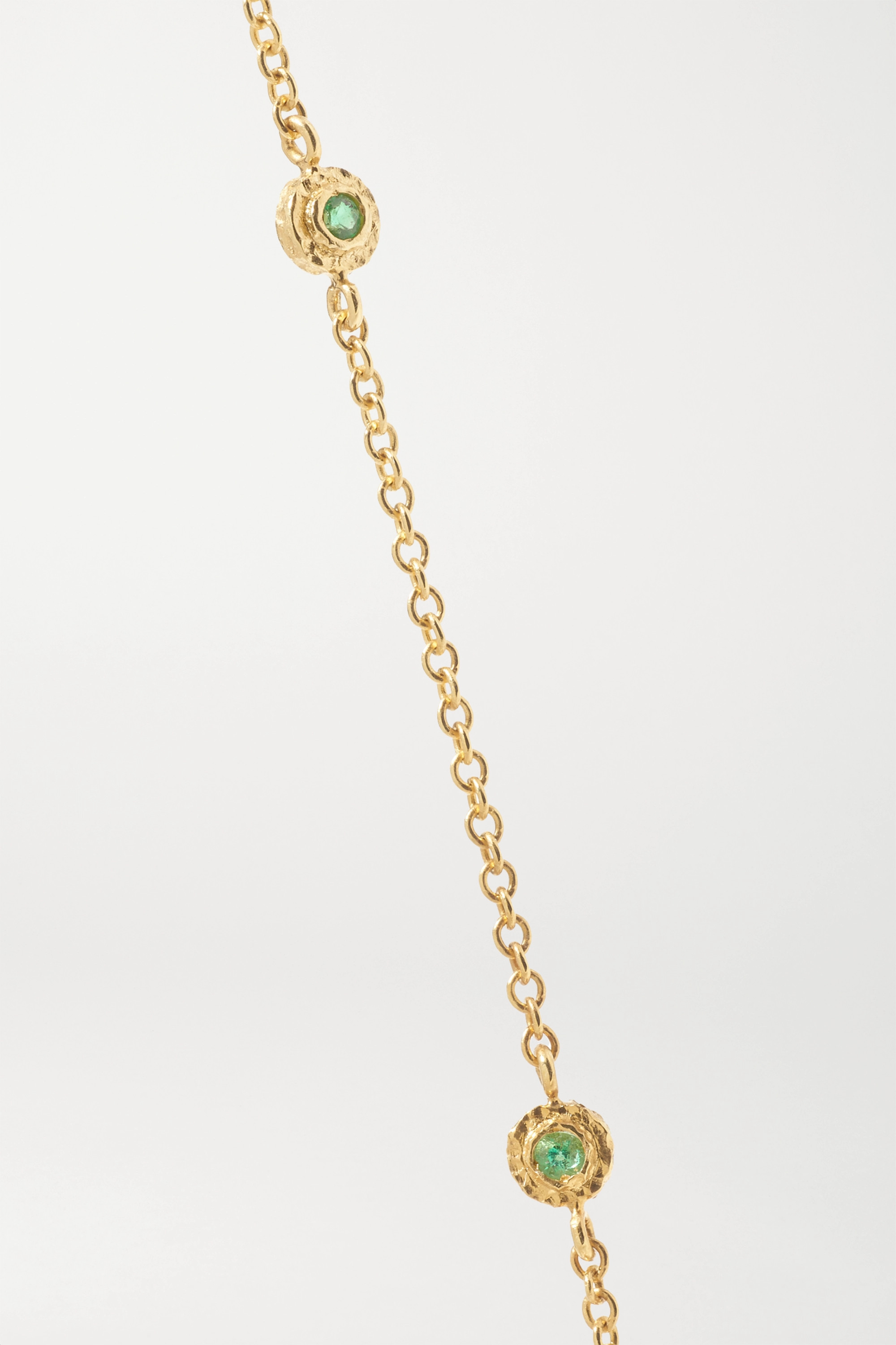 Octavia Elizabeth + NET SUSTAIN Nesting Gem 18-karat gold emerald necklace