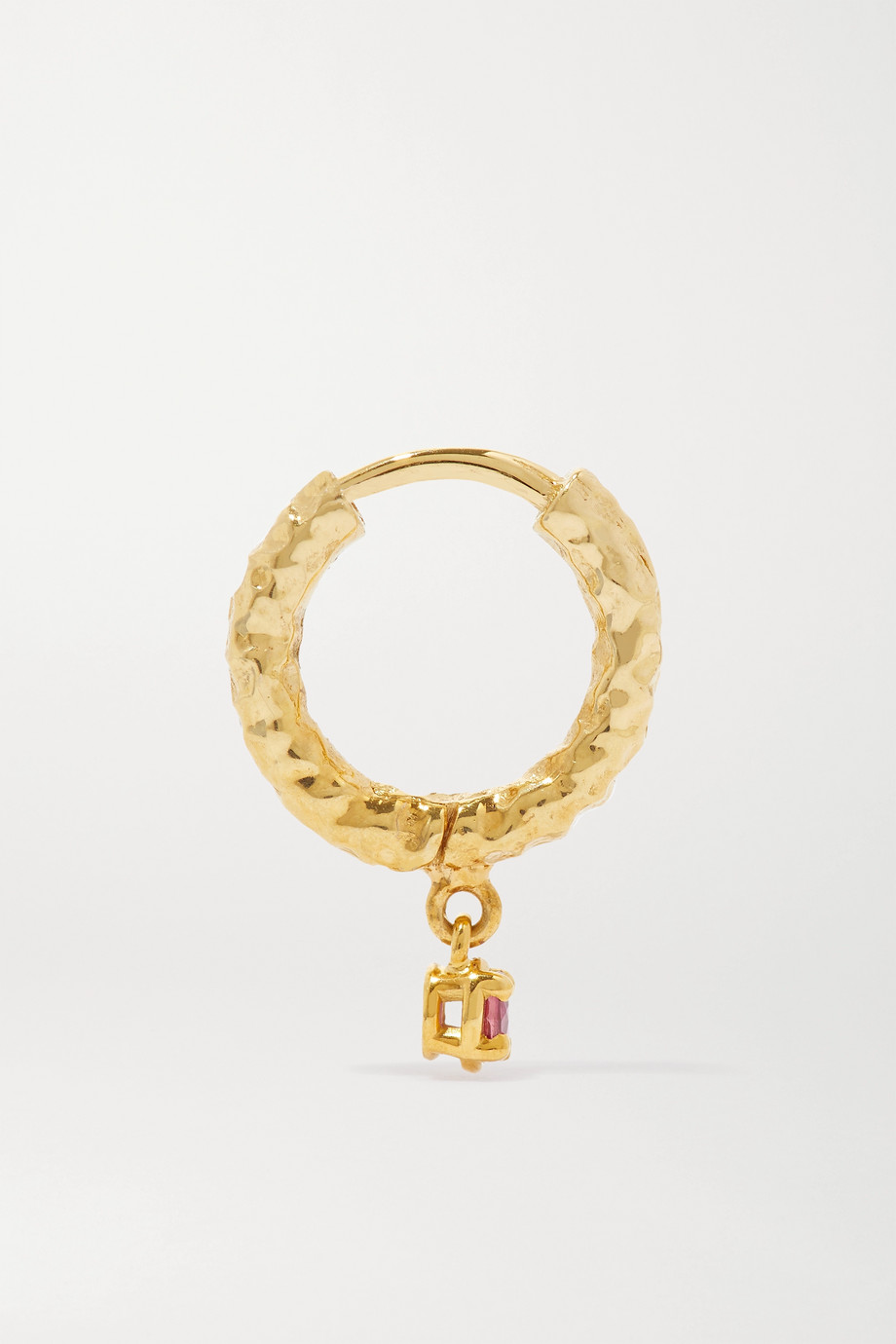 Octavia Elizabeth + NET SUSTAIN Micro Gabby 18-karat recycled gold ruby hoop earrings