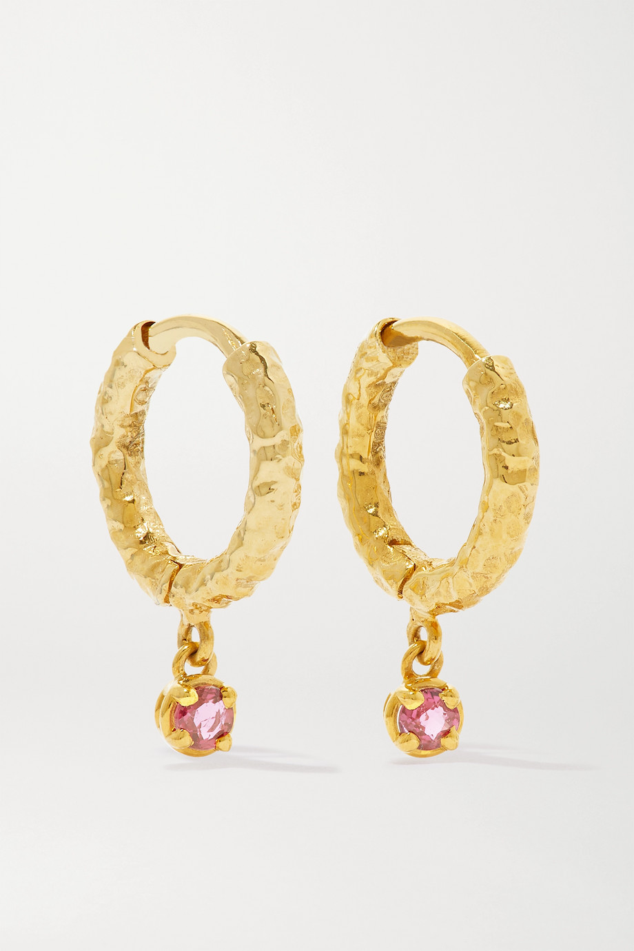 Octavia Elizabeth + NET SUSTAIN Micro Gabby 18-karat gold ruby hoop earrings