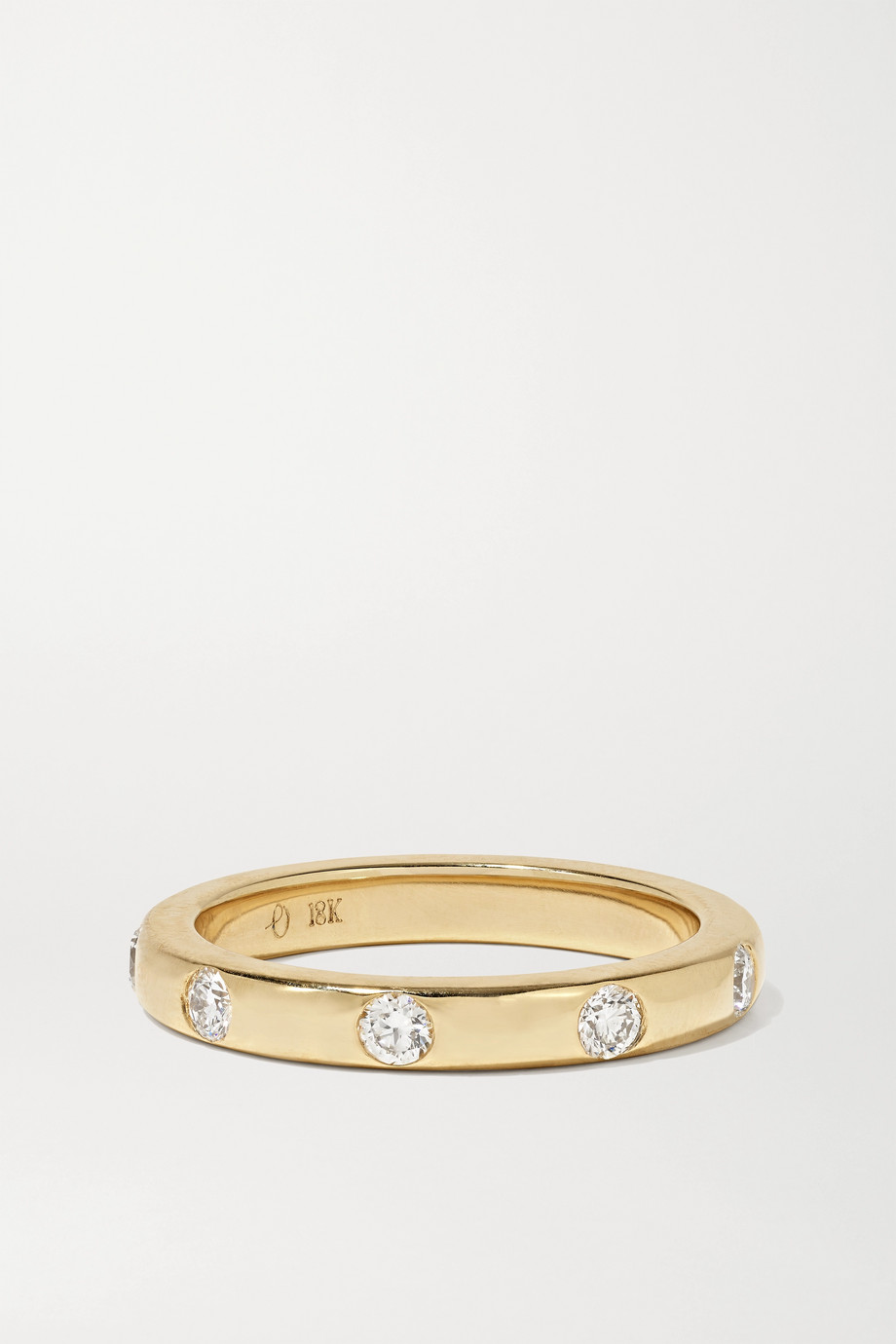 Octavia Elizabeth + NET SUSTAIN Ivy 18-karat gold diamond ring