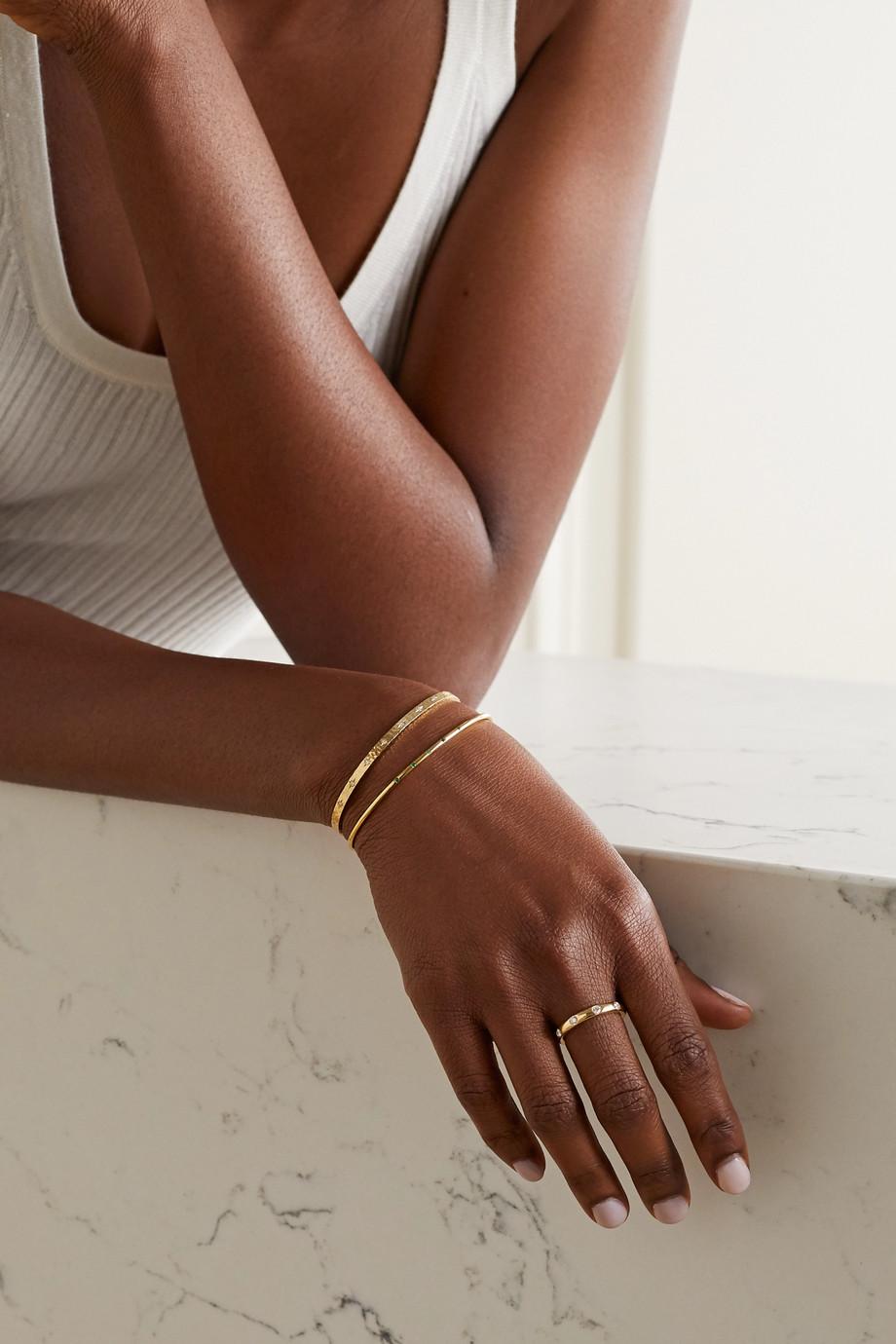 Octavia Elizabeth + NET SUSTAIN Nesting Gem 18-karat gold emerald cuff