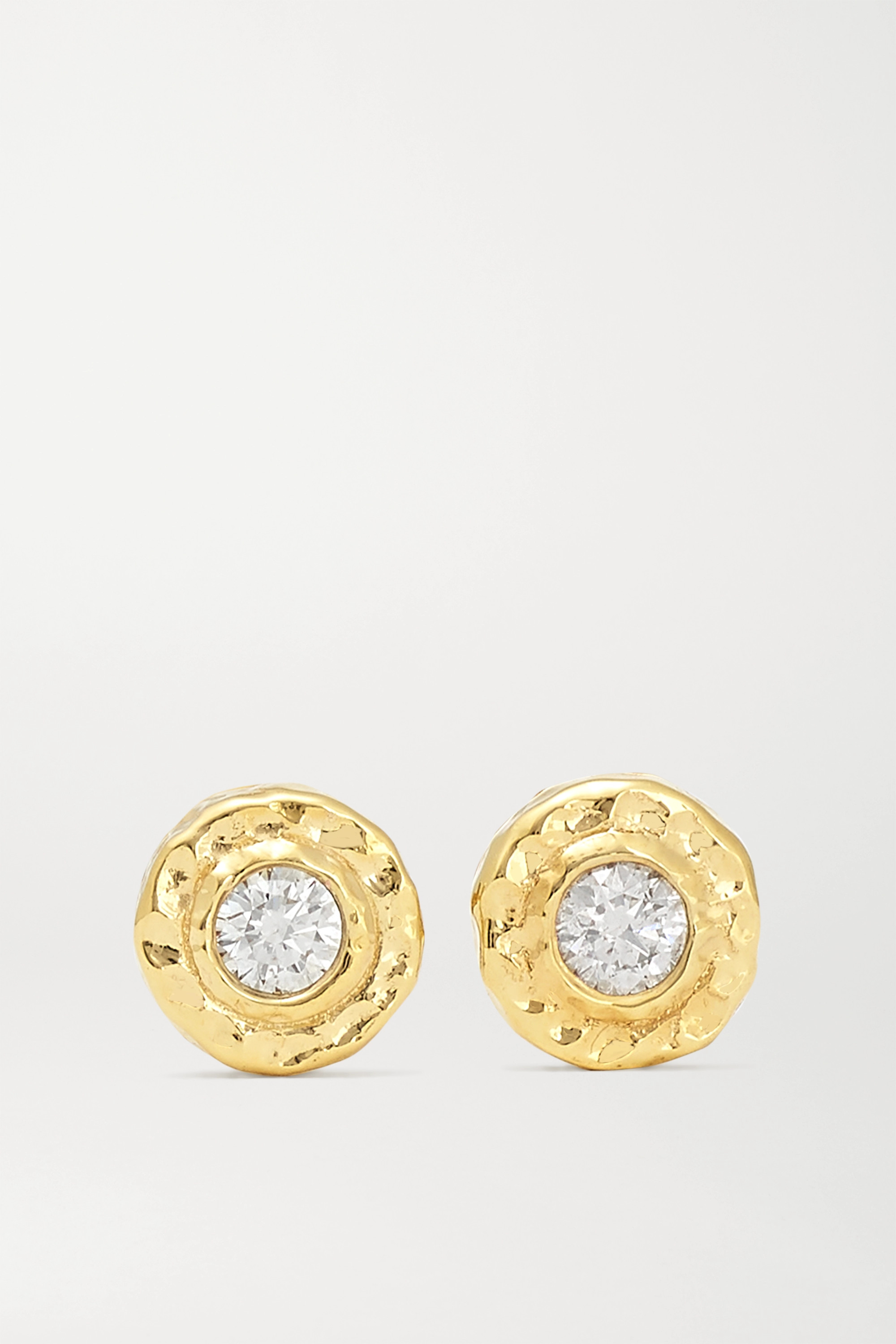 Octavia Elizabeth + NET SUSTAIN Nestling Gem 18-karat gold diamond earrings