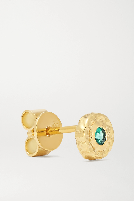 Octavia Elizabeth + NET SUSTAIN Nestling Gem 18-karat recycled gold emerald earrings