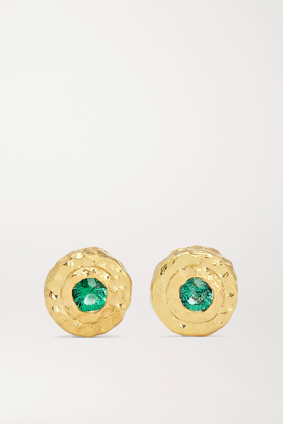Octavia Elizabeth + NET SUSTAIN Nestling Gem 18-karat gold emerald earrings