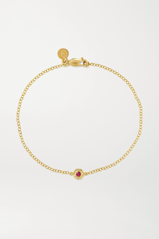 Octavia Elizabeth Bracelet en or 18 carats et rubis Nesting Gem - NET SUSTAIN