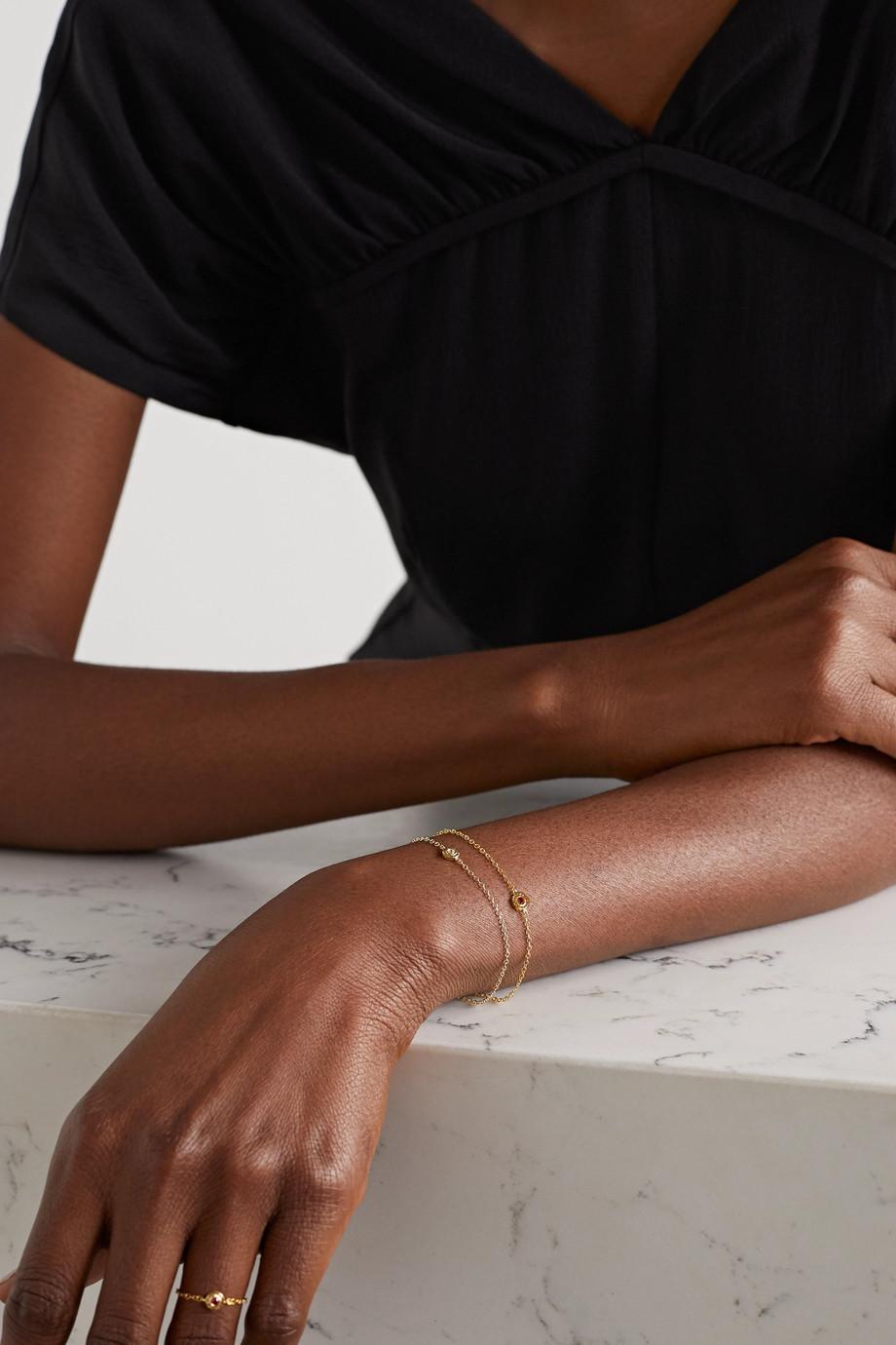 Octavia Elizabeth + NET SUSTAIN Nesting Gem 18-karat recycled gold ruby bracelet