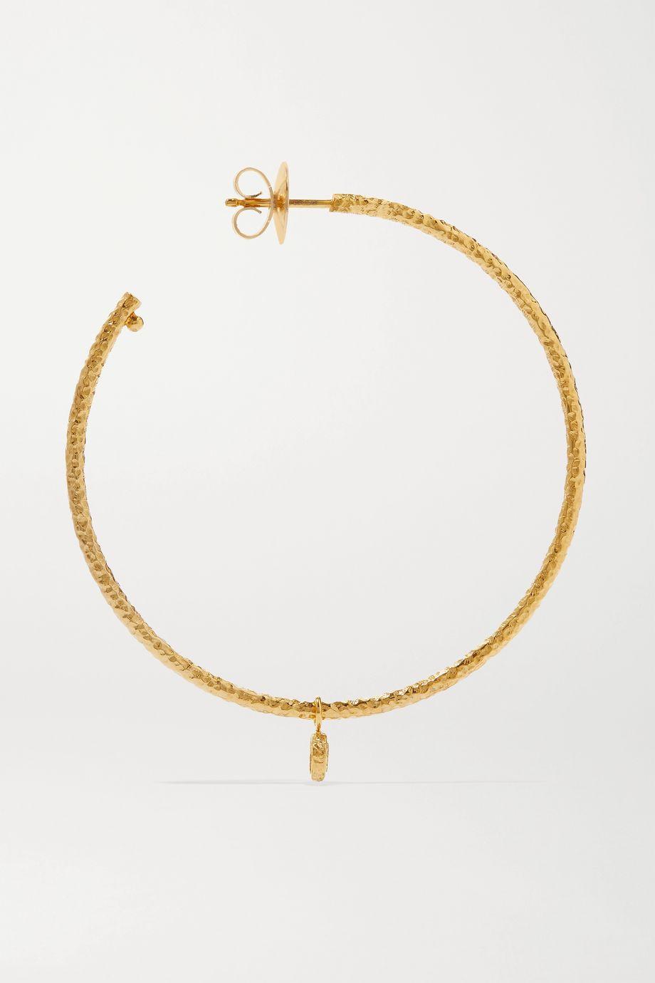 Octavia Elizabeth + NET SUSTAIN Nesting Gem 18-karat recycled gold diamond hoop earrings