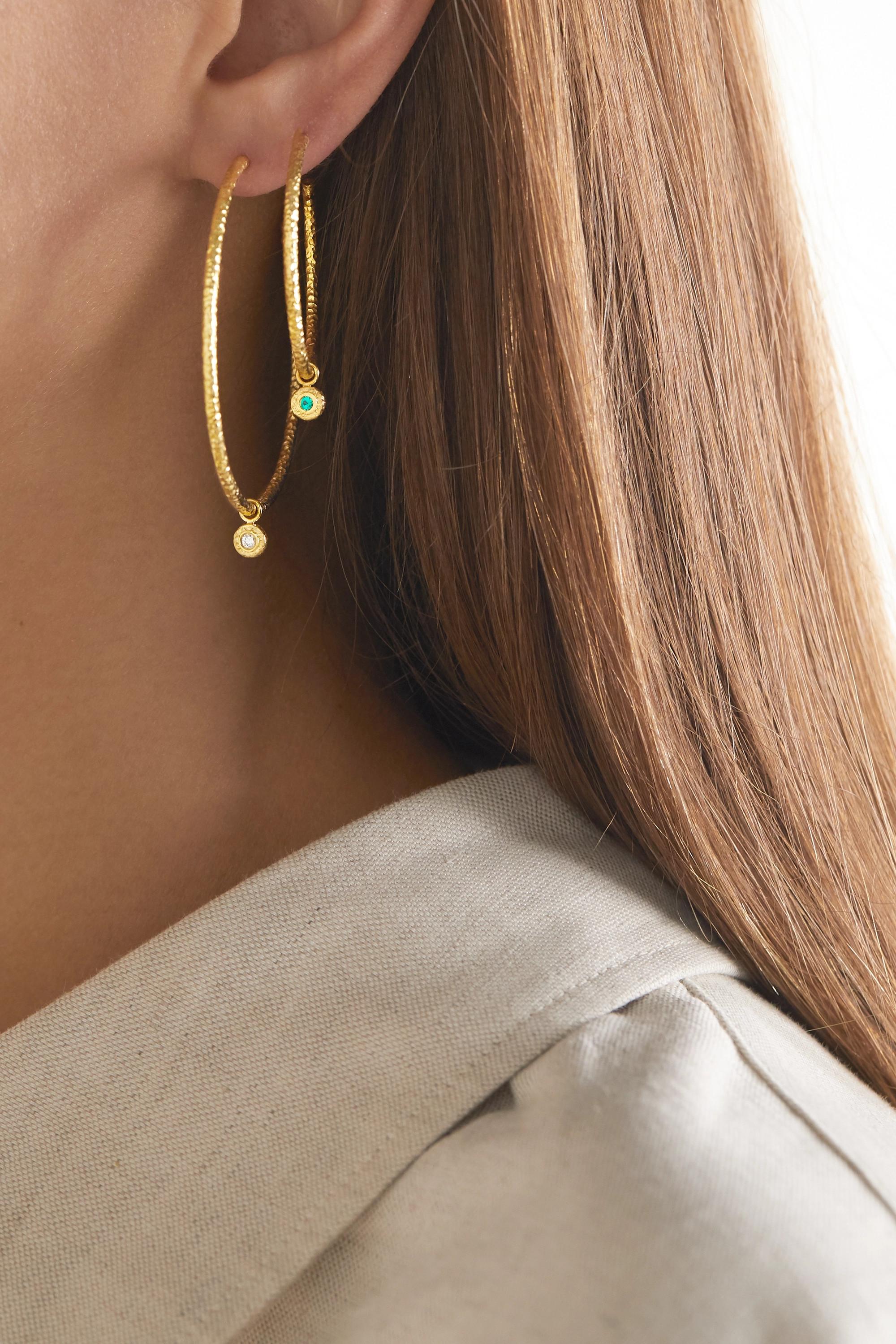 Octavia Elizabeth + NET SUSTAIN Nesting Gem 18-karat gold diamond hoop earrings