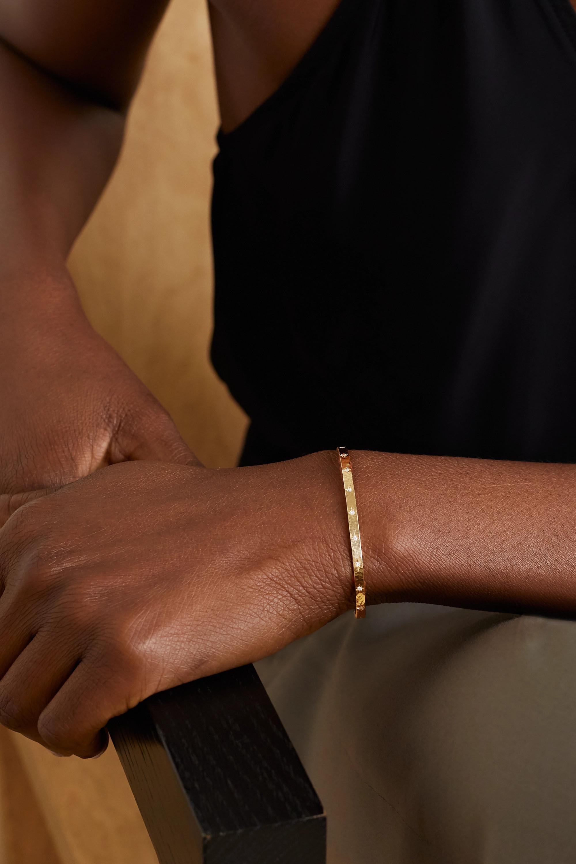 Octavia Elizabeth + NET SUSTAIN Sanded 18-karat gold diamond cuff