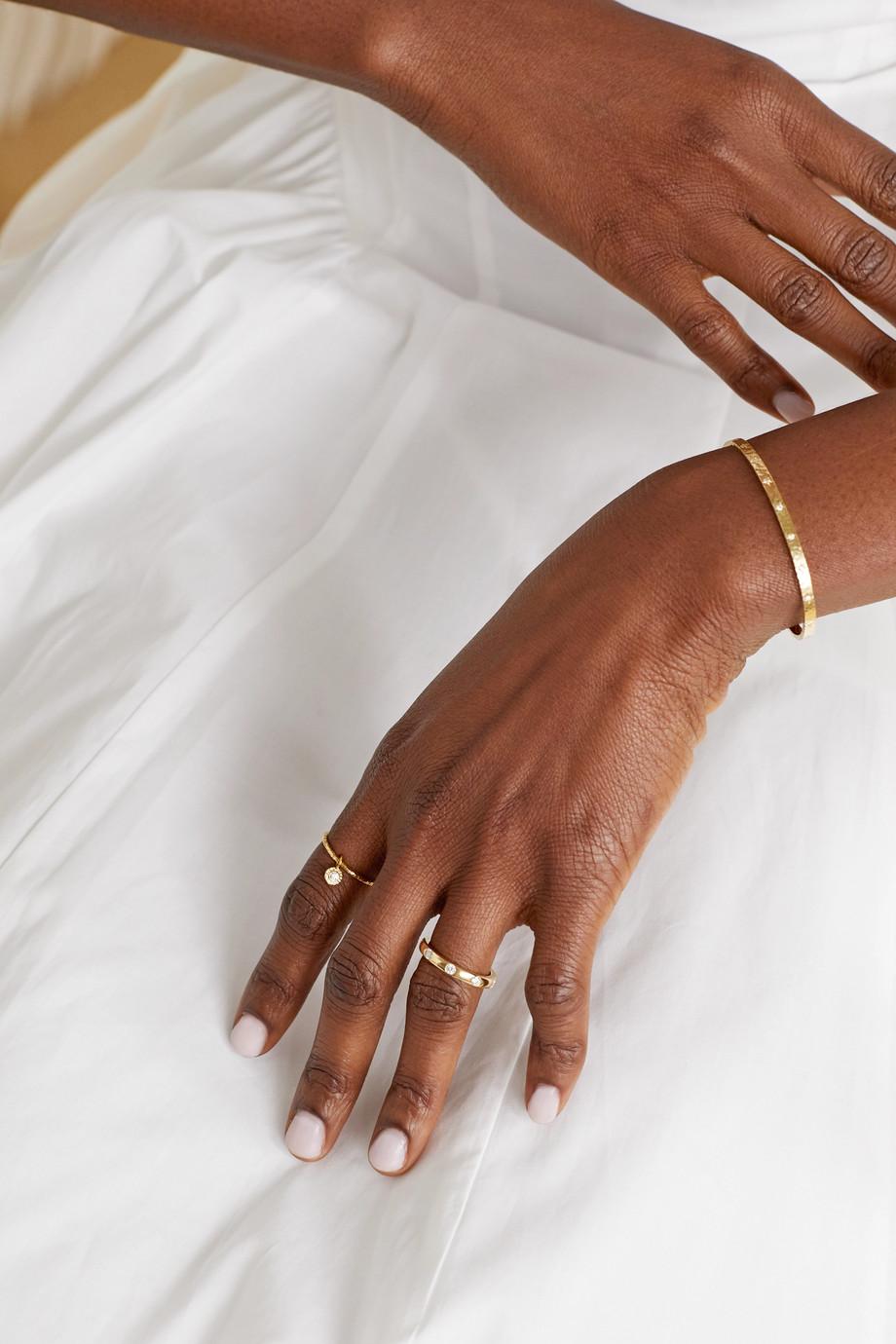 Octavia Elizabeth + NET SUSTAIN Nesting Gem Ring aus 18 Karat Gold mit Diamant