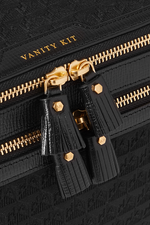 Anya Hindmarch Trousse à maquillage en velours jacquard à finitions en cuir Vanity Kit