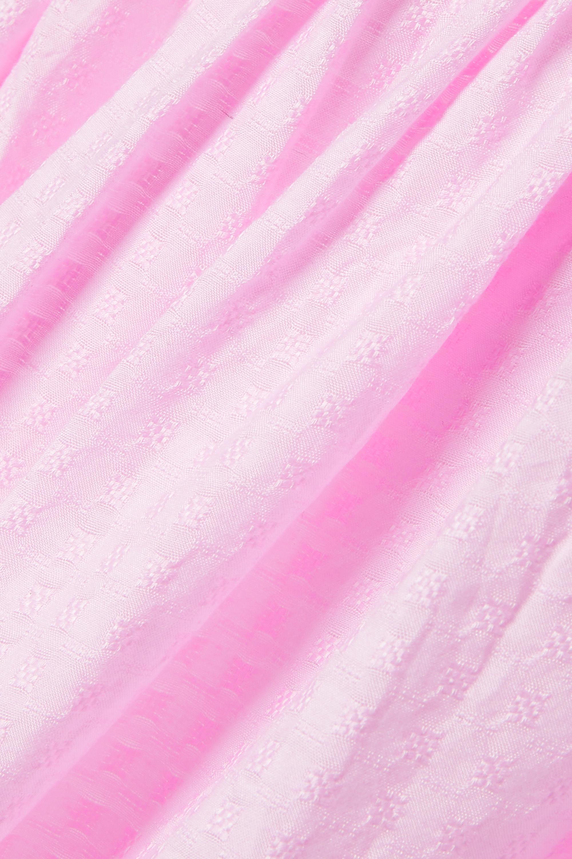 Evarae Lora off-the-shoulder fil coupé cotton and silk-blend maxi dress