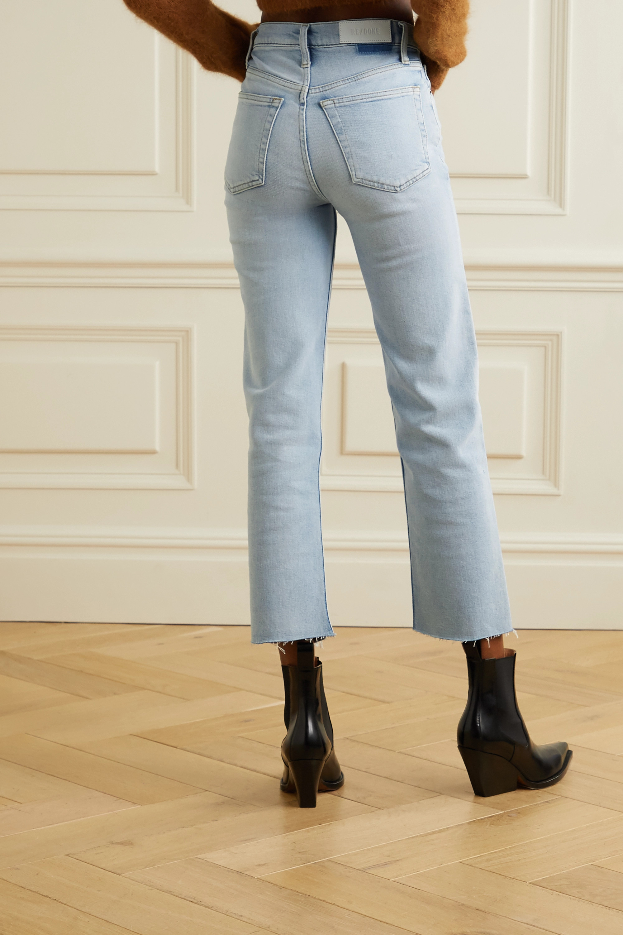 RE/DONE Originals Stove Pipe Comfort Stretch high-rise straight-leg jeans