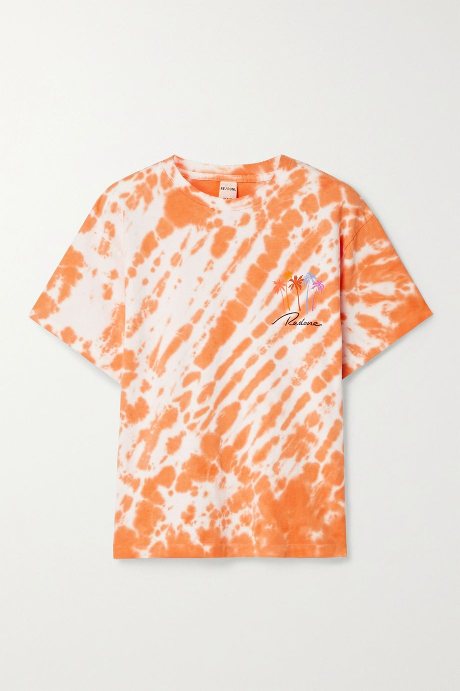 RE/DONE 90s printed tie-dyed cotton-jersey T-shirt