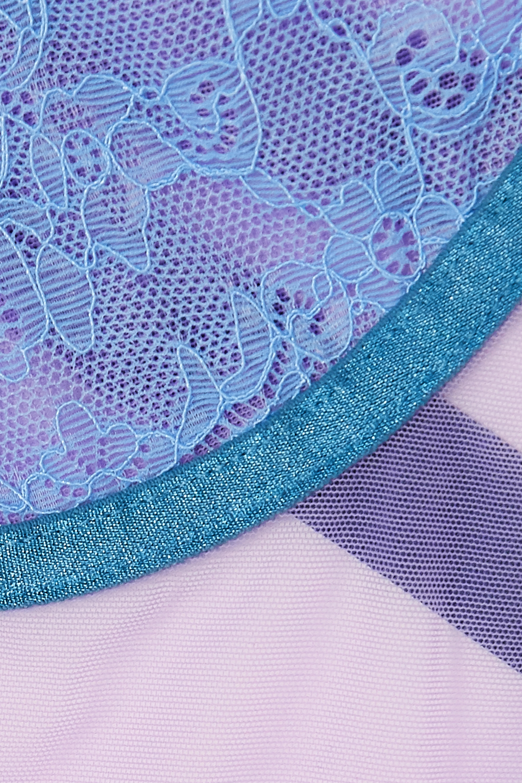 Dora Larsen Jessica stretch-tulle and lace bodysuit