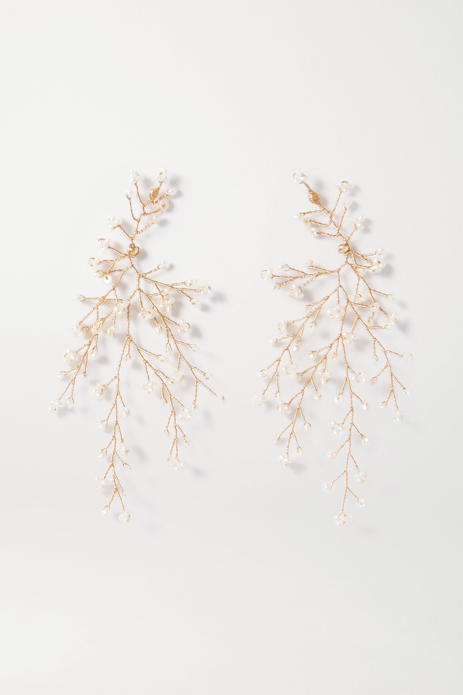 14 / Quatorze Baby's Breath gold-plated pearl earrings