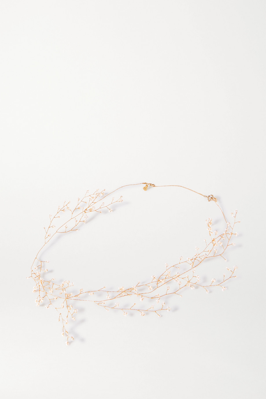 14 / Quatorze Baby's Breath gold-plated pearl necklace
